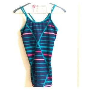 Nike small built in sports bra workout top teal